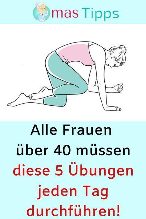 Alle Frauen über 40 müssen diese 5 Übungen jeden Tag durchführen! #Fitness #Sport #Frauen #Übungen #...