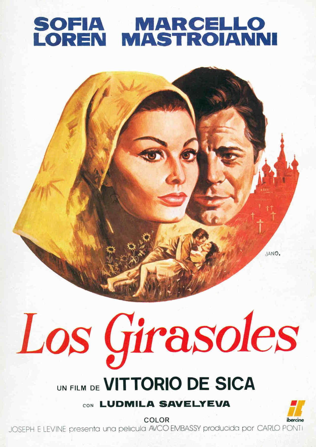 I Girasoli Sunflower 1970 Films Movies Posters 70s Italian Sophia Loren Foreign Film Film Posters