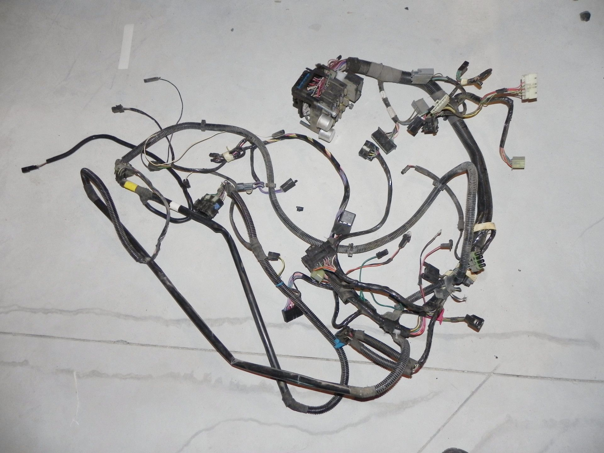 jeep wrangler yj interior under dash wiring harness 92 95 jeep  jeep under dash wiring harness #3