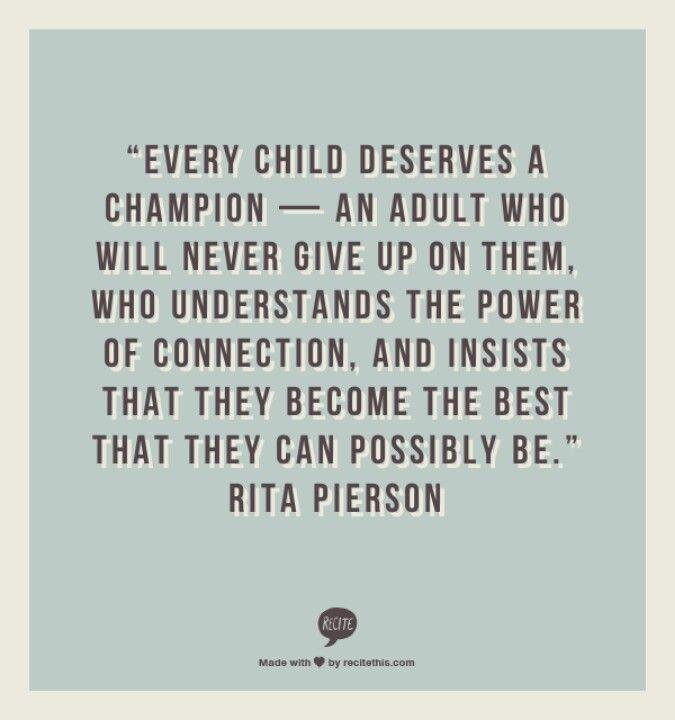 pierson single parents Every child deserves a champion: an adult who - rita pierson 55% were single‐ parent families.