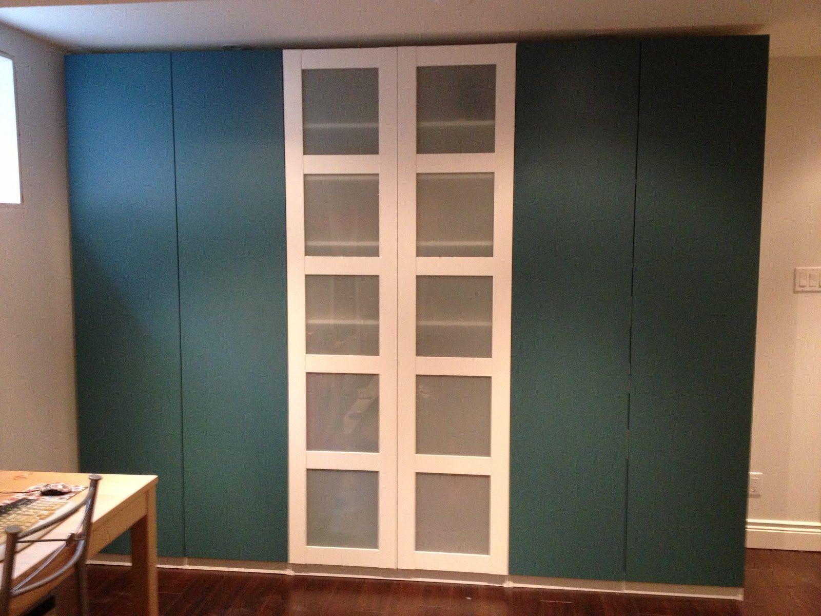 Ikea PAX closet turquoise master bedroom Bedroom