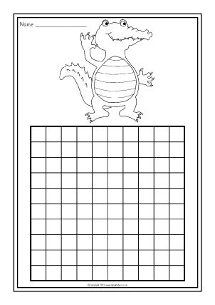 Blank 100 chart. Sparklebox