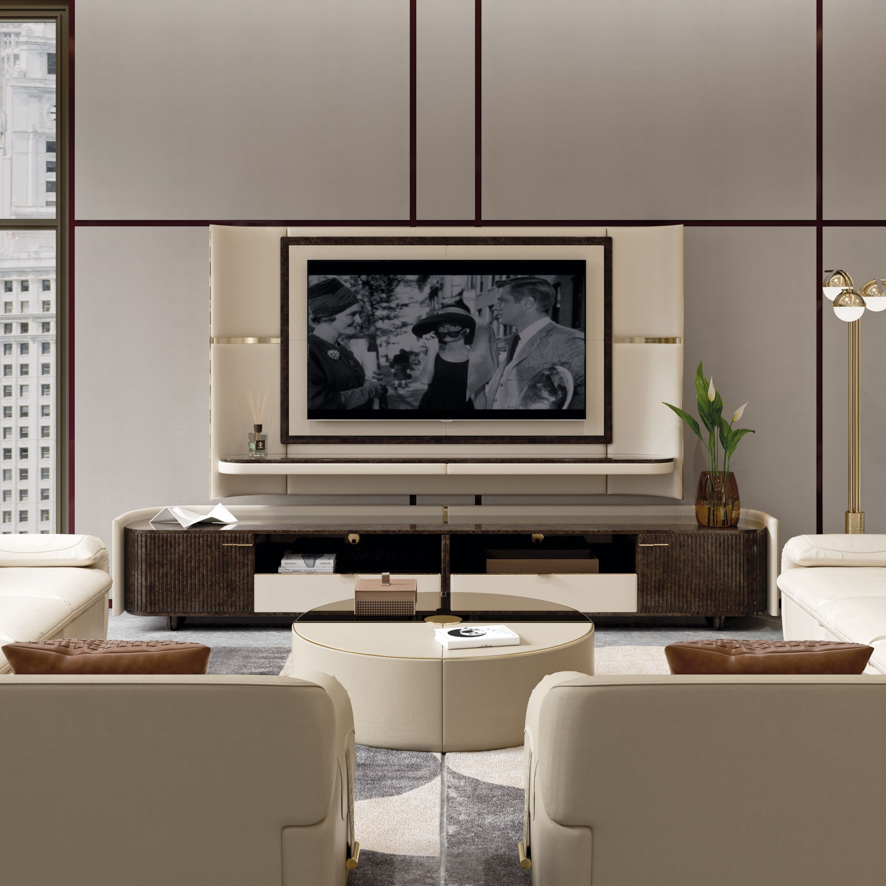 Italian Furniture For Exclusive And Modern Design Luxury Furniture Living Room Living Room Tv Unit Designs Luxury Living Room