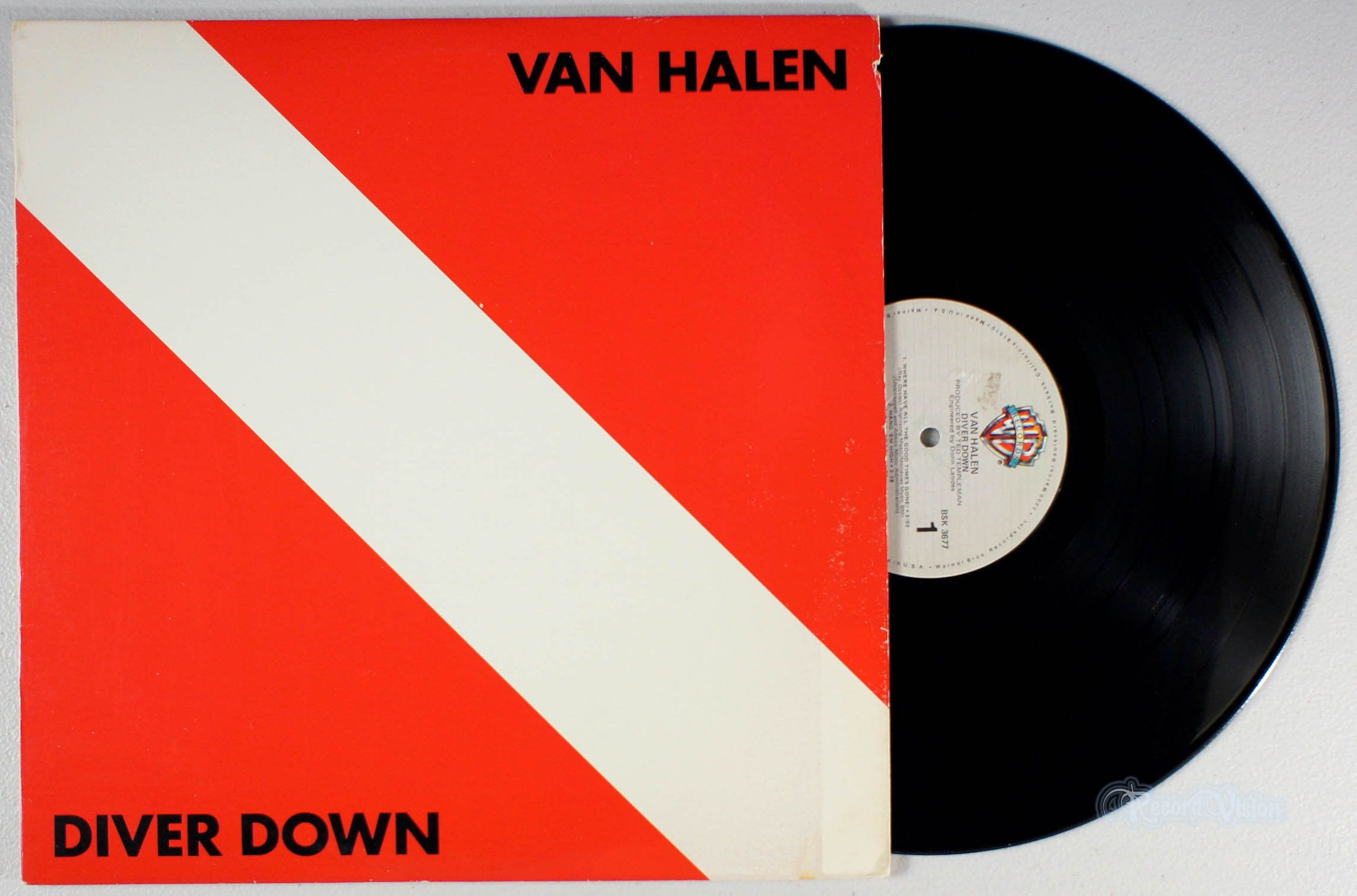 The Album Artwork For Diverdown By Vanhalen Displays The Diver Down Flag Used In Many Us Jurisdictions Which Indic Van Halen Vinyl Record Album Diver Down