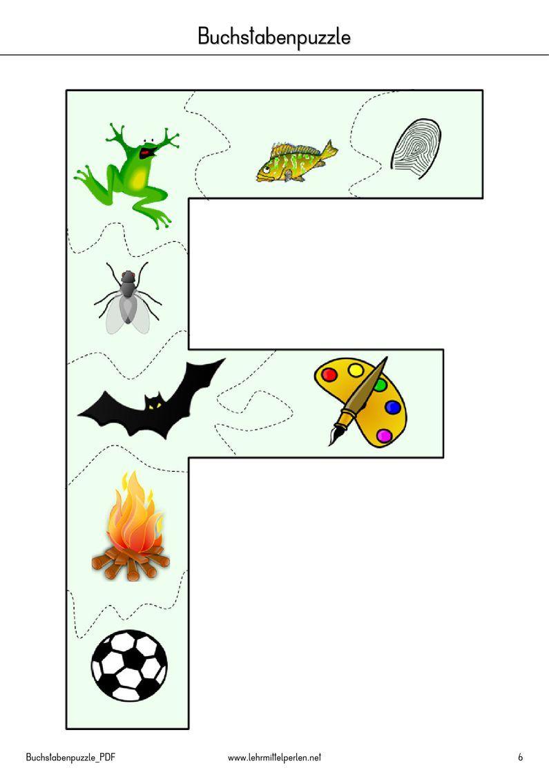 buchstaben puzzle pdf to flipbook vorschule pinterest pdf kindergarten and montessori. Black Bedroom Furniture Sets. Home Design Ideas