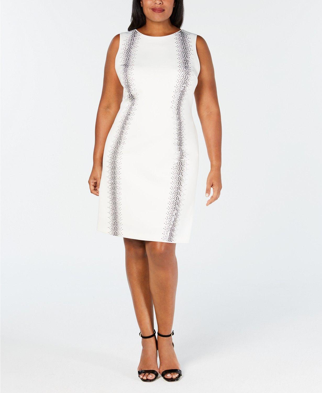 Plus Size Embellished Sheath Dress in 2019   Graduation ...