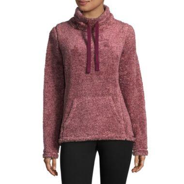 6515ce08c St. John s Bay Active Long Sleeve Sweatshirt - Tall Cowl Neck