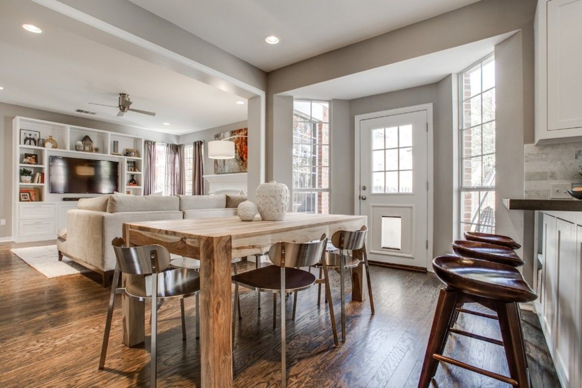 Dining Room Remodel Enchanting Transitional Dining Room  Kitchen Family Room Remodel Review