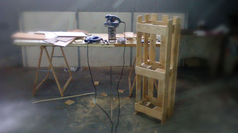 Trabalho feito c/ pallete (madeira)