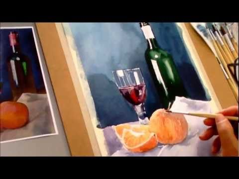 Still Life Painting With Poster Colours Green Apple Drawing