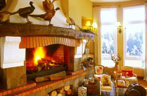 Esta é a sala da lareira. Um lugar ótimo para se aquecer!