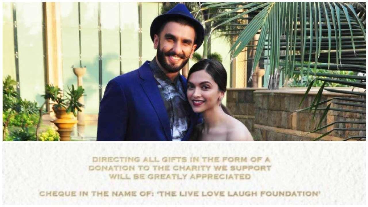 Deepika Padukone Ranveer Singh To Ban Phones At Wedding Would Appreciate Gifts In Form Of Donation To Their Charity Che Deepika Padukone Ranveer Singh Charity