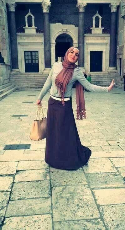 hijab style .. islamic fashion .. long skirt