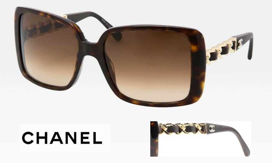 c91b9f89f7e0 CHANEL Prestige Collection: Oversized square acetate sunglasses. Broad  temple made of interlaced lambskin leather chain. Temple tips in leather  stamped with ...