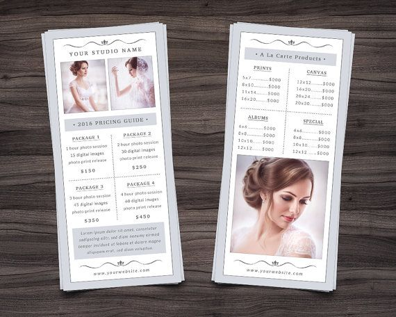 Photography Rack Card Template For Photoshop By Nmdesignstudioshop