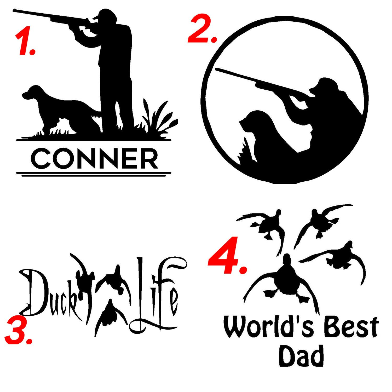 Duck Hunting Vinyl Decals Stickers For Cars Trucks