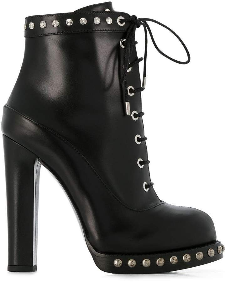 cb2929781bd Alexander McQueen studded ankle boots | Bad boot | Shoe boots ...