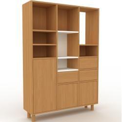Photo of Holzregal Eiche – Modernes Regal aus Holz: Schubladen in Eiche & Türen in Eiche – 118 x 168 x 35 cm,