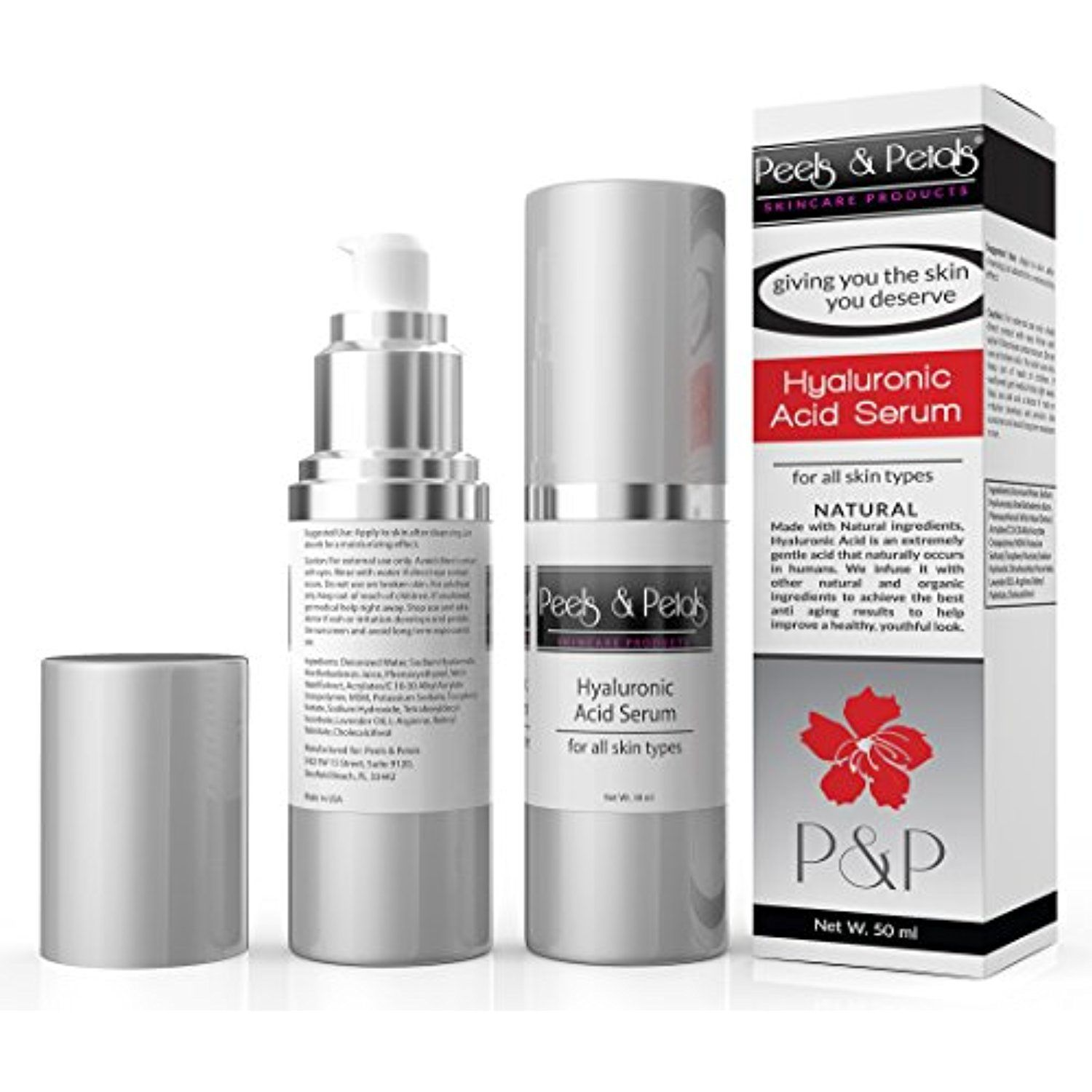 Peels and petals paraben free hyaluronic acid serum for skin eyes