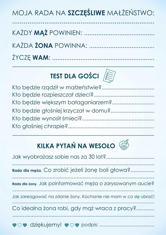 Ankieta Weselna Dla Gosci Dwustronna Pdf 7460195044 Allegro Pl Wedding Cake Cost Wedding Ceremony Budget Friendly Wedding