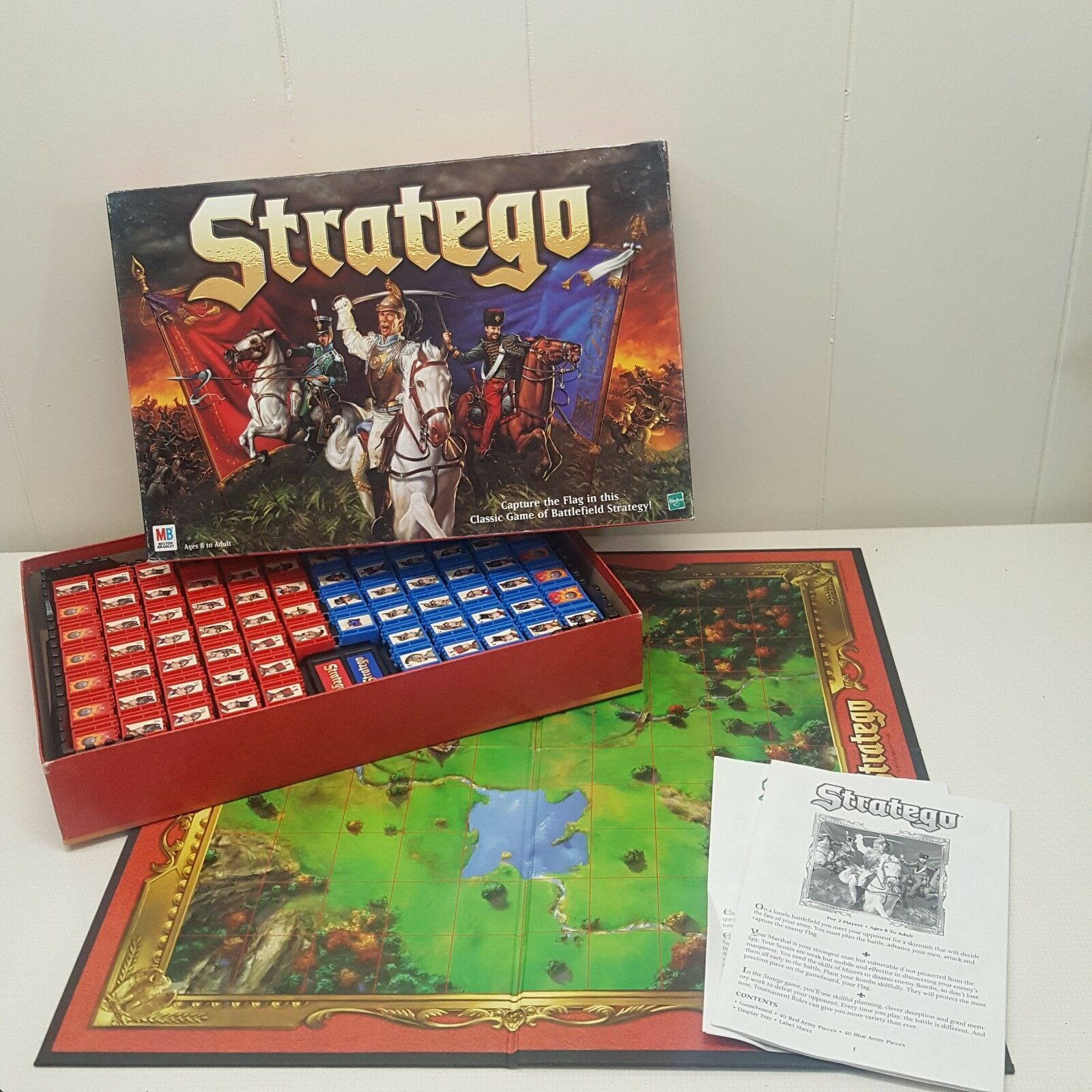 Hasbro Stratego Board Game Strategy 2 Player COMPLETE 1999