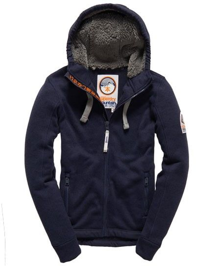 Shop Superdry Mens Storm Tab Zip Hoodie in Grit Navy. Buy now with free  delivery from the Official Superdry Store.