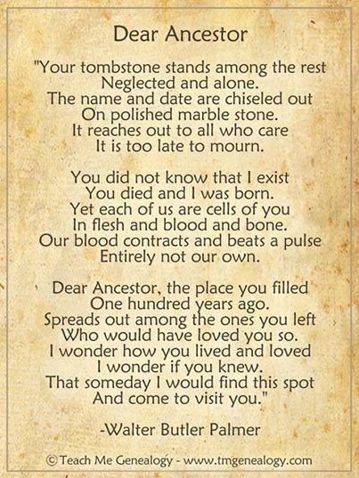 Dear Ancestor by Walter Butler Palmer