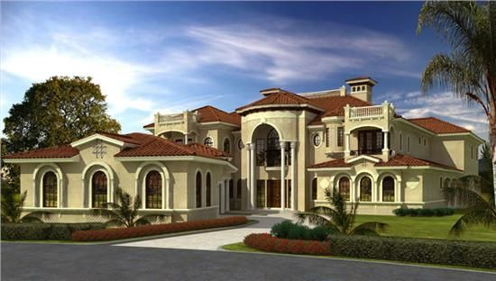 Luxury plans-spanish mission style home design