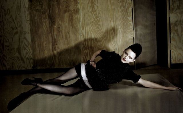 """Black Impact"" Guinevere Van Seenus photographed by Glen Luchford for Vogue Italia 2008"