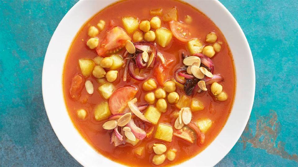Zupa Pomidorowa Z Ciecierzyca I Ananasem Przepis Recipe Dinner Time Dinner Food