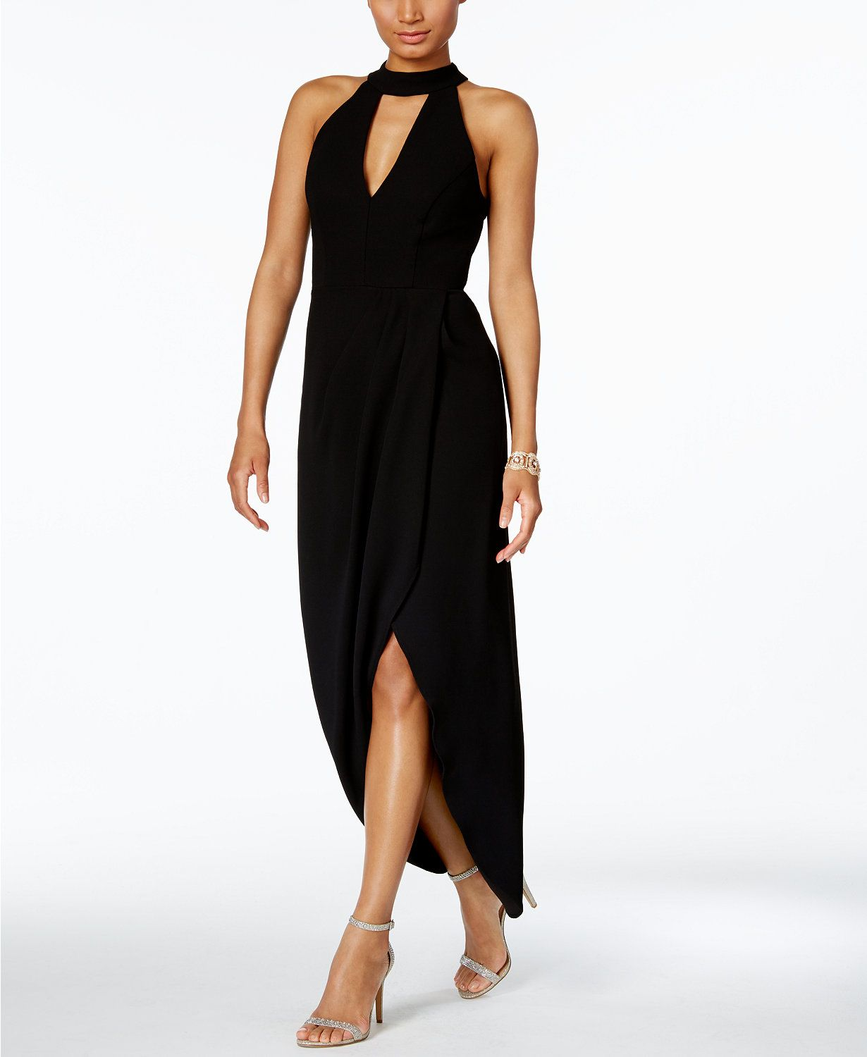 Xscape halter midi dress macys clothes pinterest midi