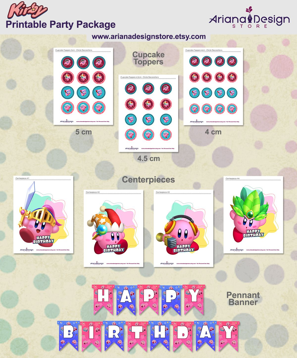 photograph regarding Printable Party Decorations named Kirby Occasion Decorations Kirby Birthday Get together Kirby