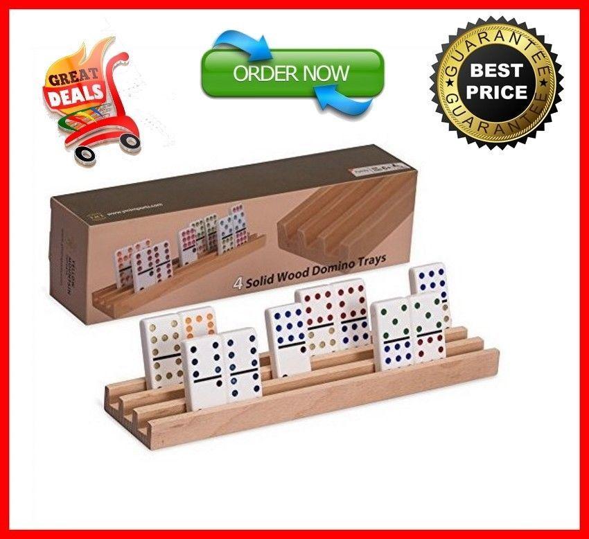 Domino Racks Tile Game Trays Holder Dominoes Mexican Train