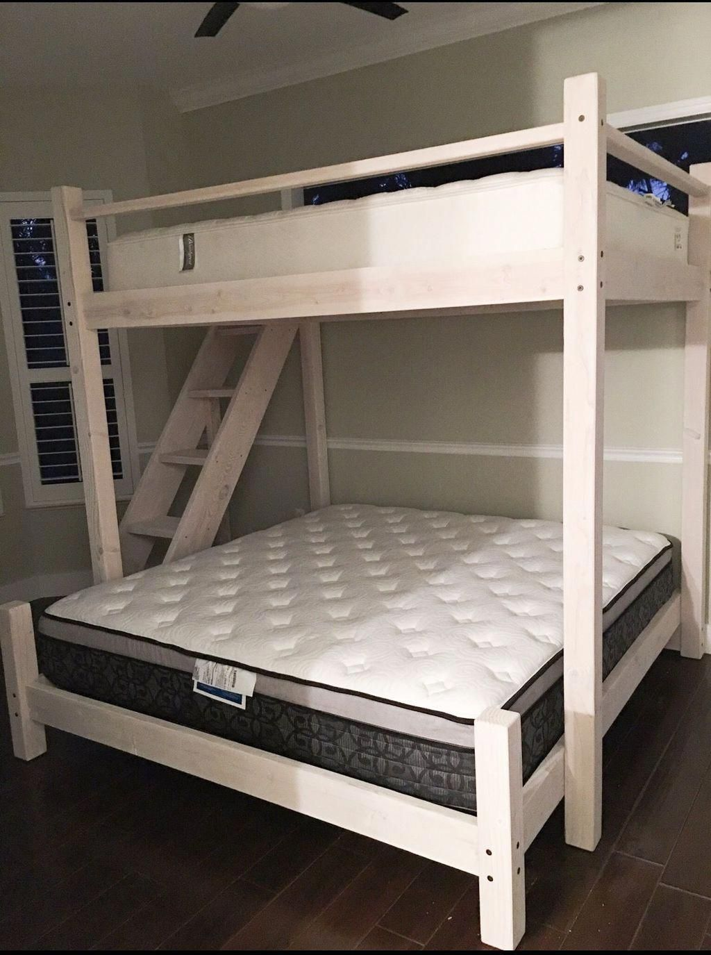 Bunk Bed Queen Over Twin Bunk Beds Sold By Amazon Furnitureanak Furnitureshopp Bunk Bed Queen Over Twin Queen Loft Beds Bunk Bed Designs Cool Bunk Beds