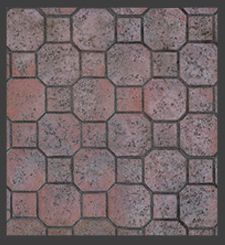 Stamped Concrete Octagon Tile Pattern