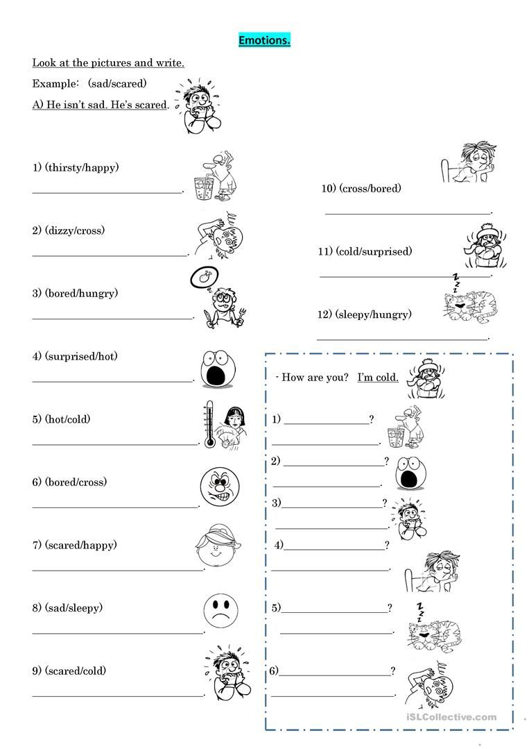 Emotions worksheet - Free ESL printable worksheets made by ...
