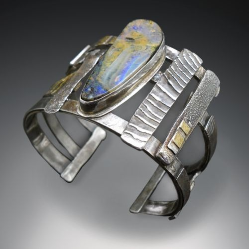 Boulder opal cuff - Patricia McLeery