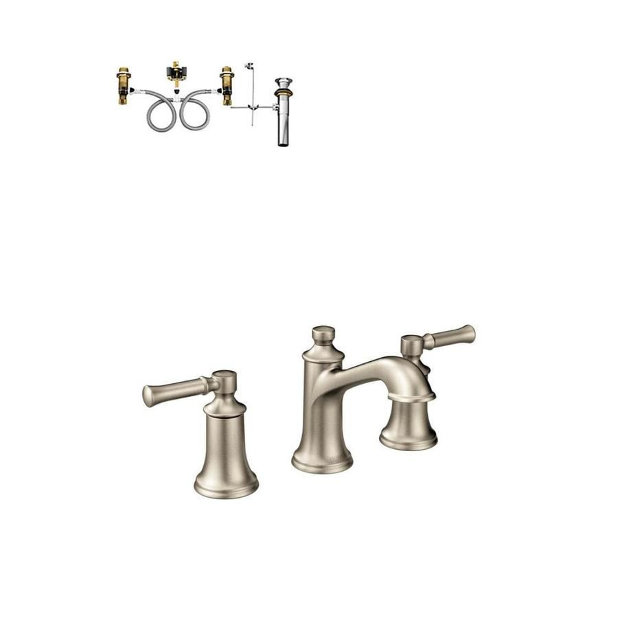 Moen Dartmoor Brushed Nickel 2 Handle Widespread Watersense