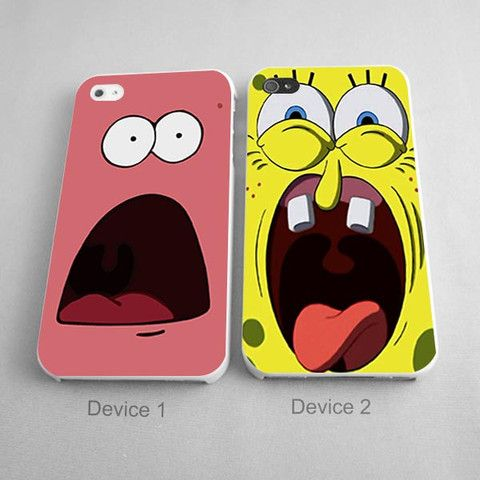 Scare face spongebob and patrick couples phone case iphone 44s 5 scare face spongebob and patrick couples phone case iphone 44s 55s voltagebd Gallery
