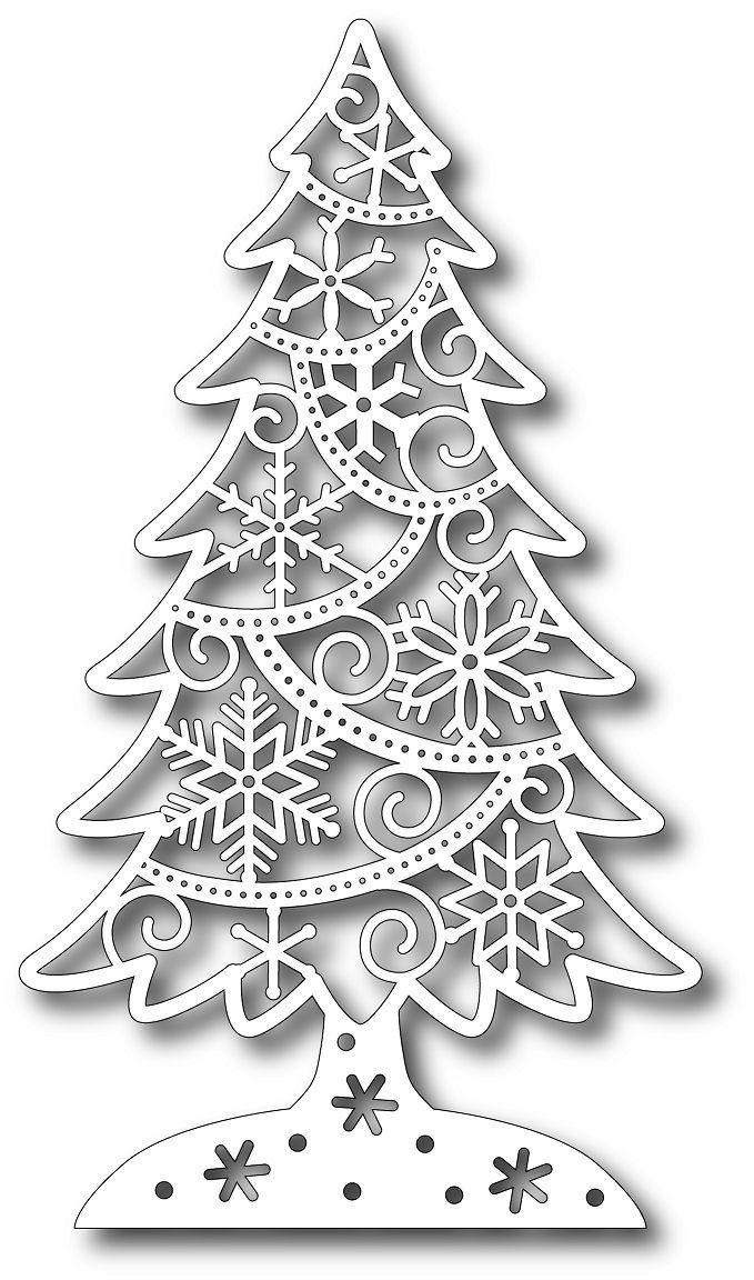 Tannenbaum Dxf.Tutti Designs Cutting Die Ice Crystal Fir 11 99 Dxf Vorlagen