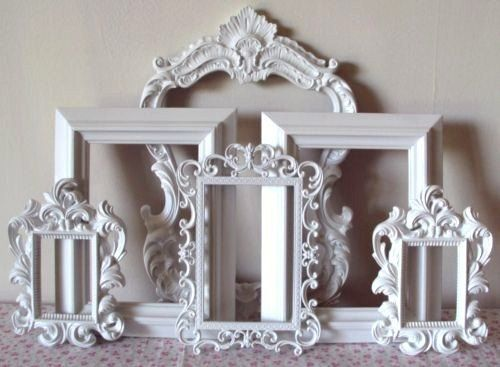 Picture Frames Cottage White or Any Color Open Frames Wall Gallery ...