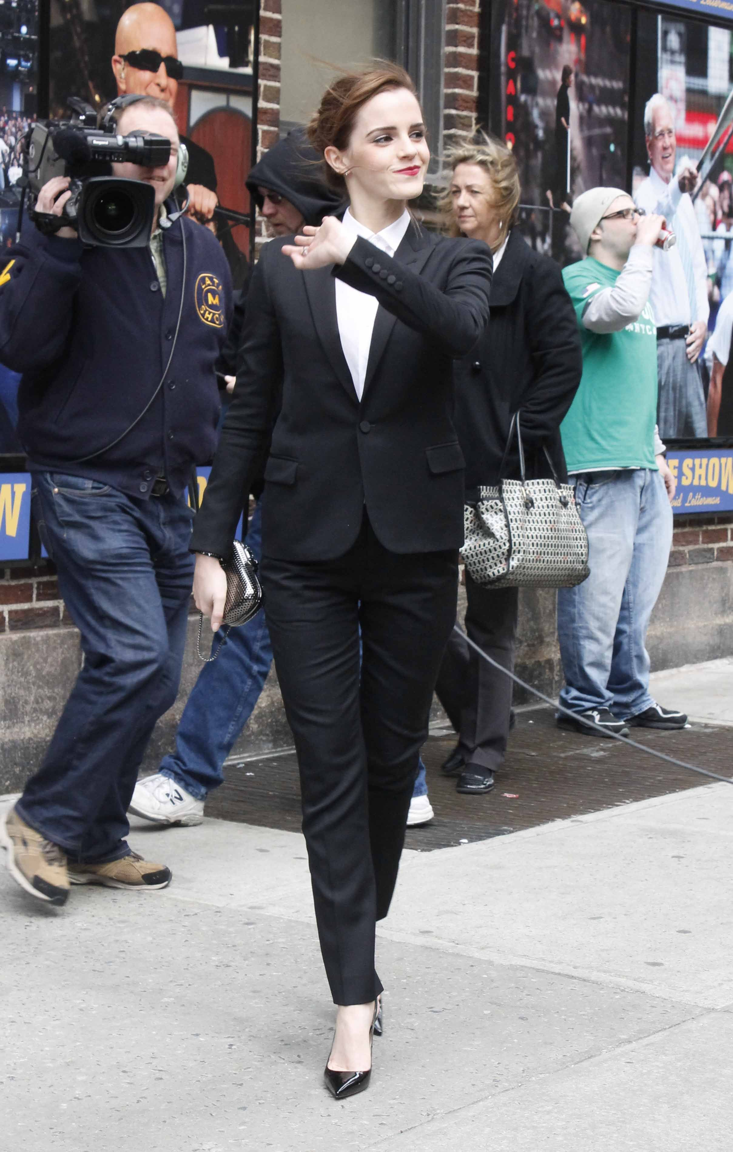 Spotted arriving at the Late Show with David Letterman in New York