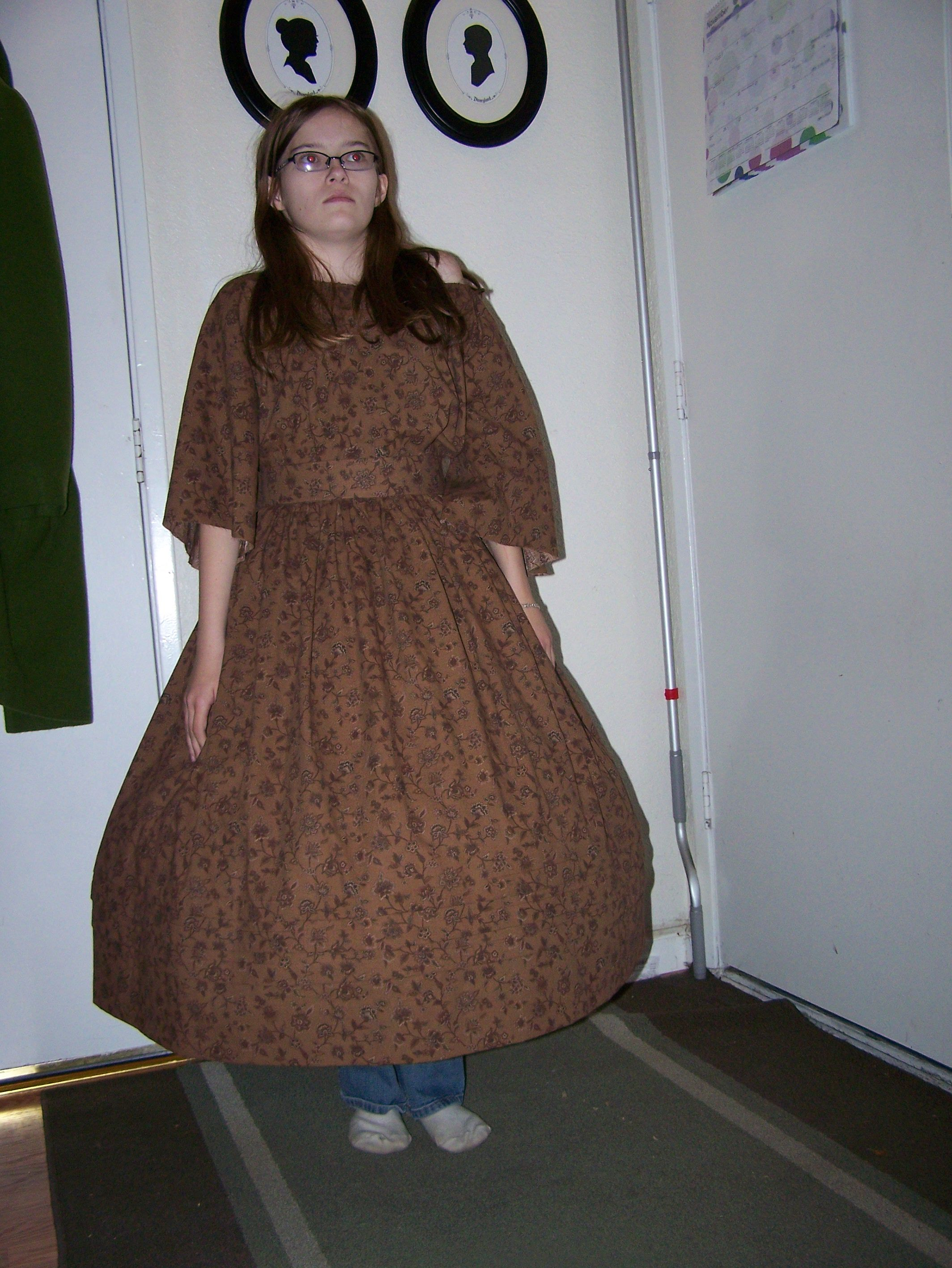 Brown Girls gown for Dickens 2012