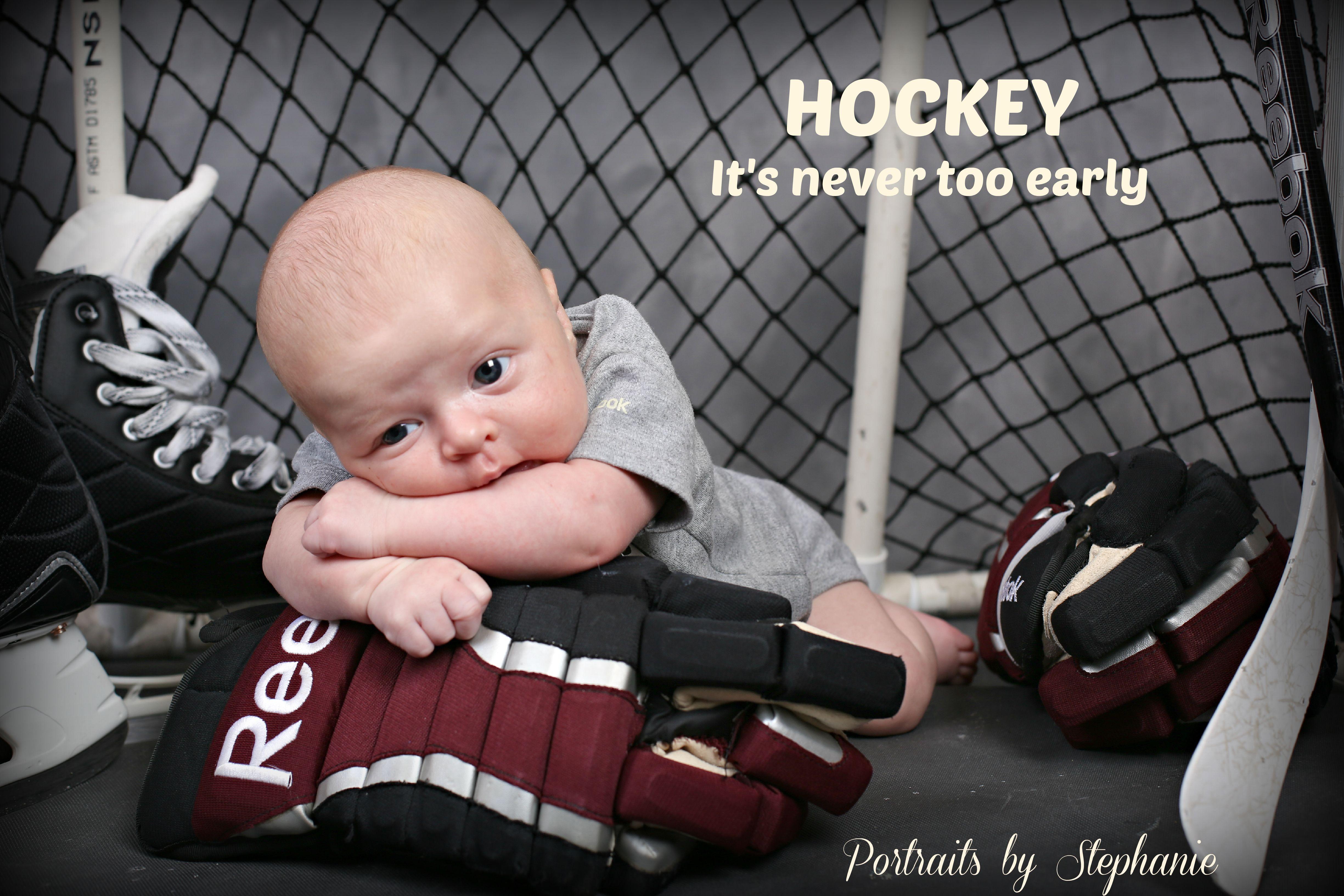 baby hockey fan portrait idea | Portraits by Stephanie MY ...