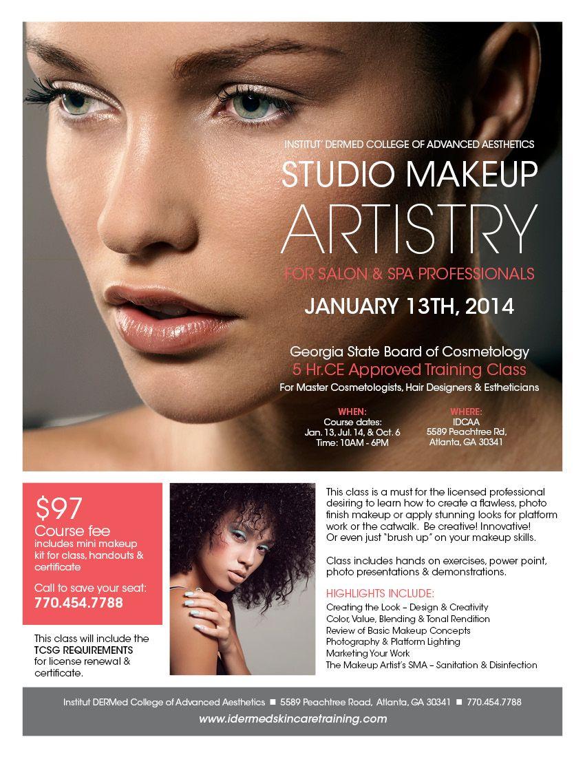 Studio makeup artistry class january 13 2014 class