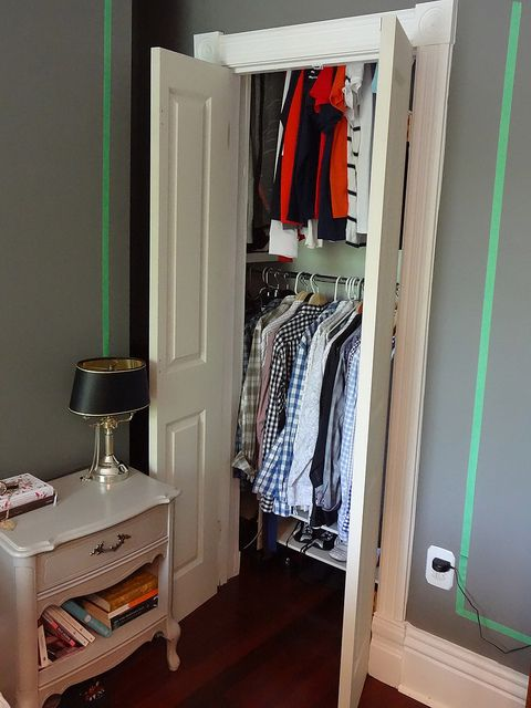 Two Closet Doors That Open Out Instead Of Ugly Sliding Folding From Lifebeginsatthirty