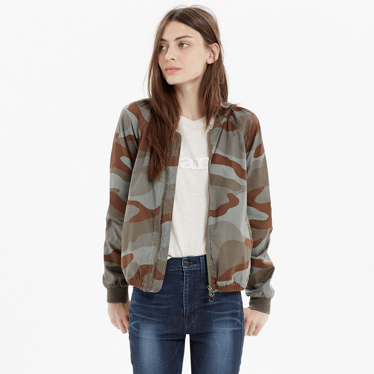 Bomber Jacket in Dusk Camo jackets Madewell (With