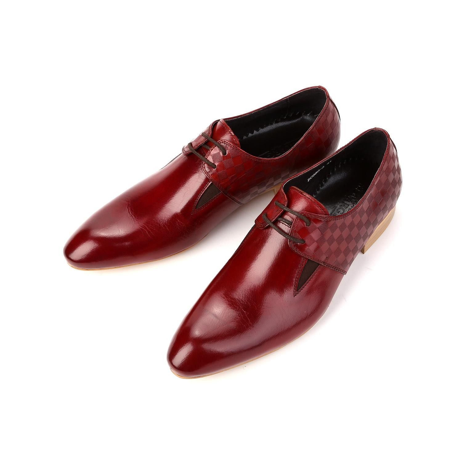 Red dress shoes for wedding  Real Genuine Leather Men Dress Shoes Menus Brand Designer For Party