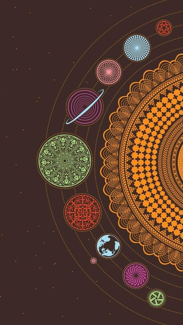 Iphone Wallpapers Iphone 5 Art Mandala Sacred Geometry