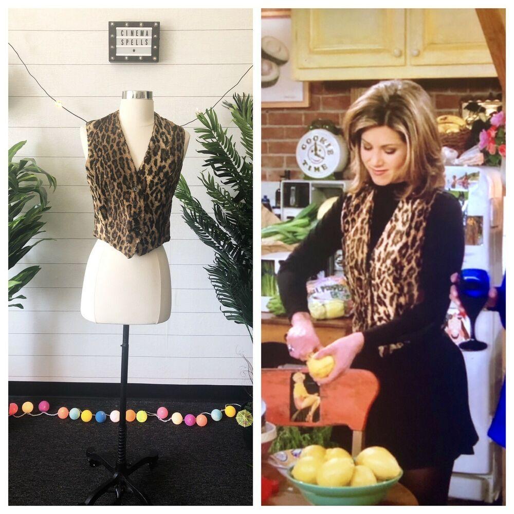 Vintage 90s Aso Rachel Green In Friends Leopard Print V Neck Vest Size Us 4 Vintagedonnakaran Vest [ 1000 x 1000 Pixel ]